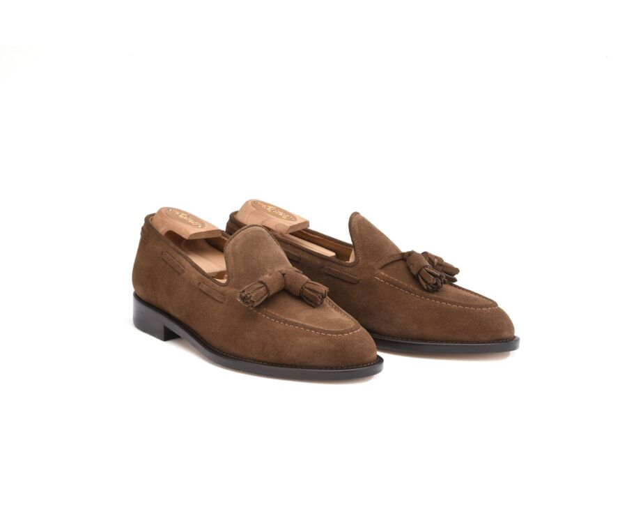 Mocassin homme Velours Havane - PICADILLY