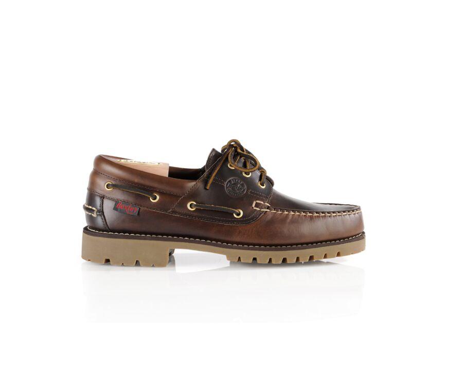 Chaussures bateau homme cuir Marron Foncé - BOCA RATON