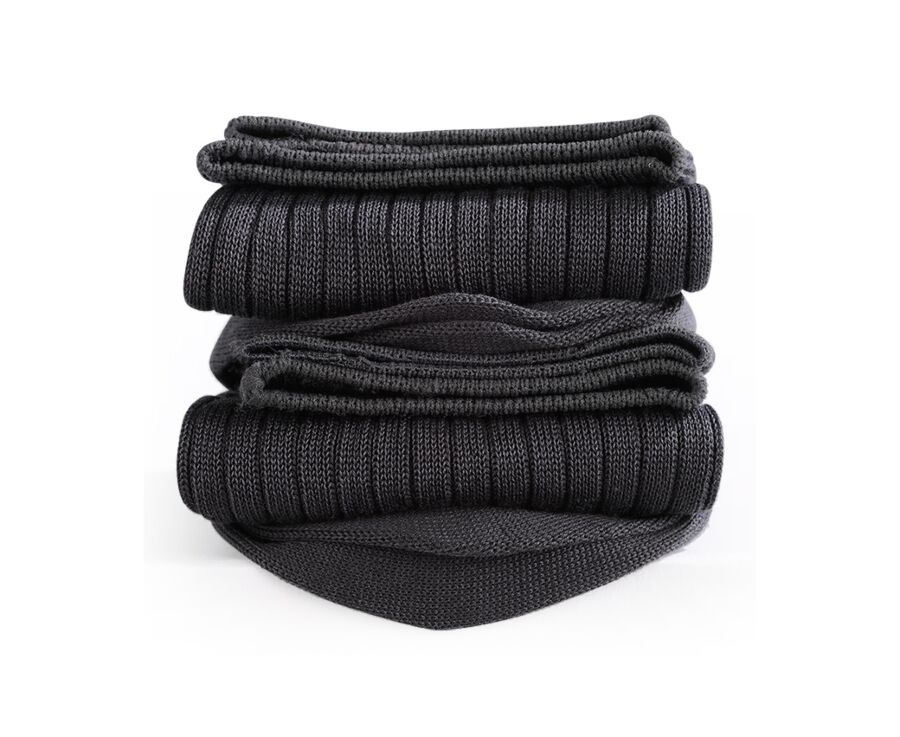 Mercerised Cotton Socks With Ribbing Anthracite