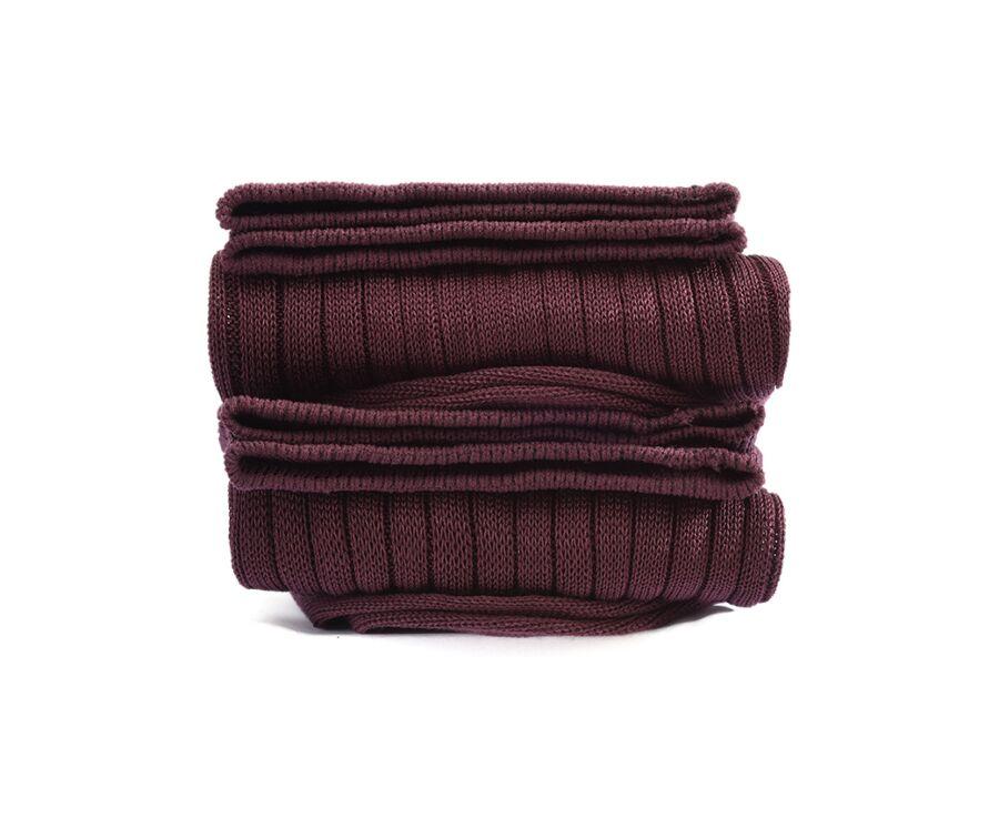 Mercerised Cotton Socks With Ribbing Burgundy