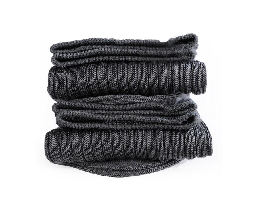 Mercerised Cotton Socks With Ribbing Grey
