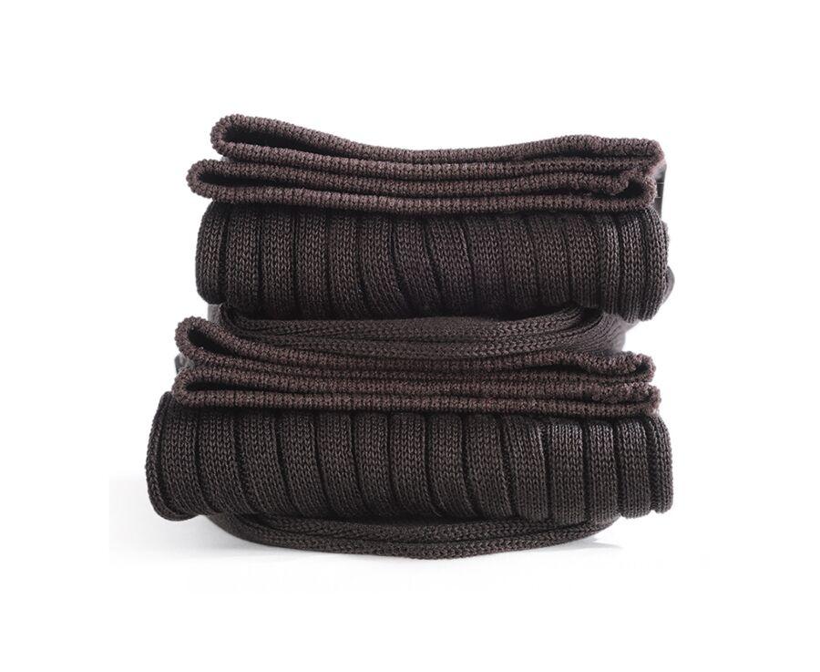 Mercerised Cotton Socks With Ribbing Havana