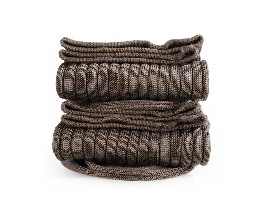 Mercerised Cotton Socks With Ribbing Taupe
