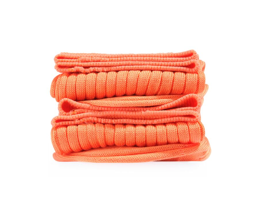 Mercerised Cotton Socks With Ribbing Orange