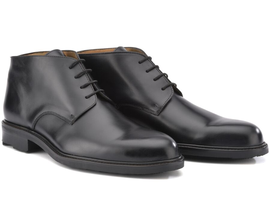 Low boots cuir homme Noir - WATFORD GOMME COUNTRY