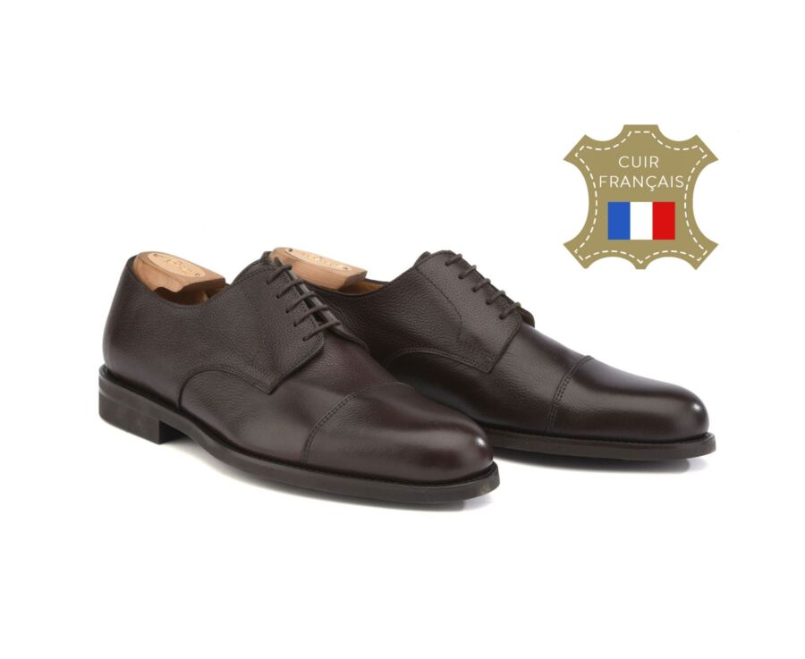 Mayfair Classic Gomme City Chocolate grained Leather