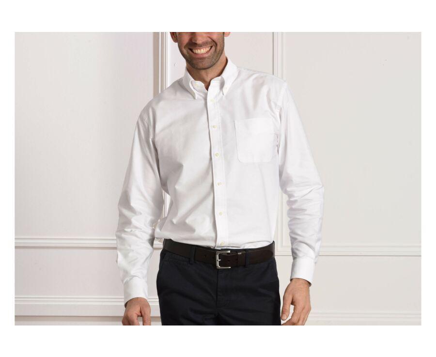 Chemise blanche Oxford à poche - Col américain - HAROLD