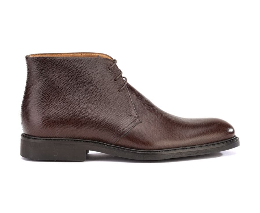 Low boots homme Chocolat Grainé - GREENWICH GOMME CITY