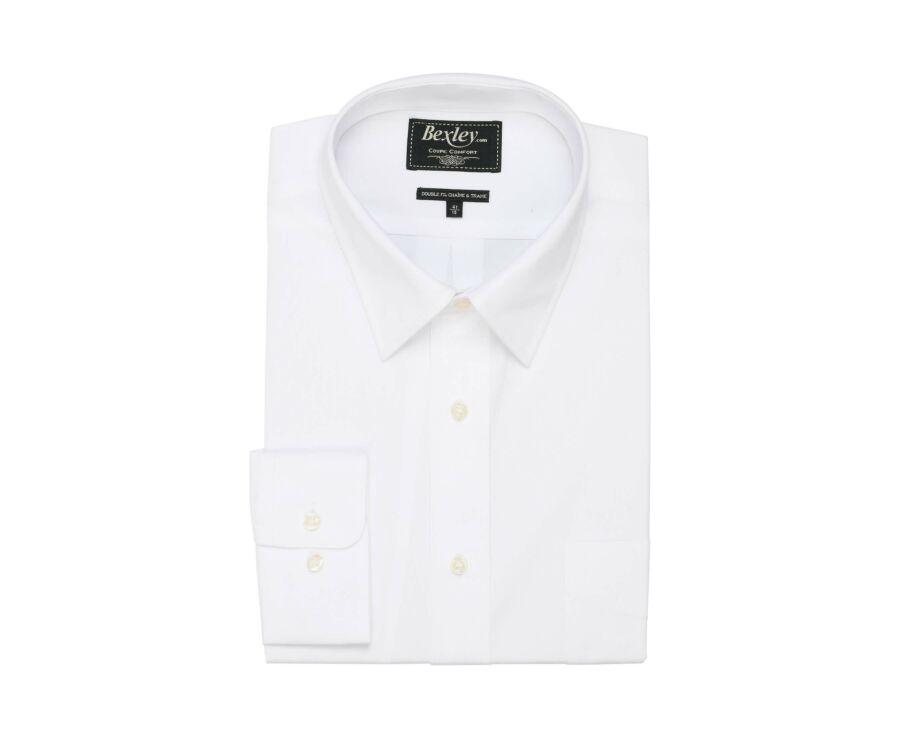 Chemise blanche en coton - Poche poitrine - ALBERT