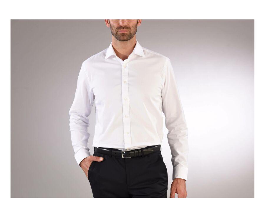 Chemise blanche coton twill double fil - GIORGIO