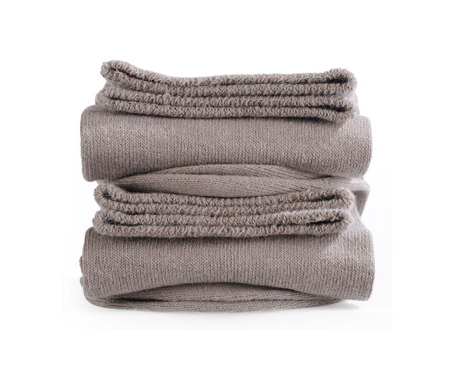 Chaussettes homme épaisses coton Taupe
