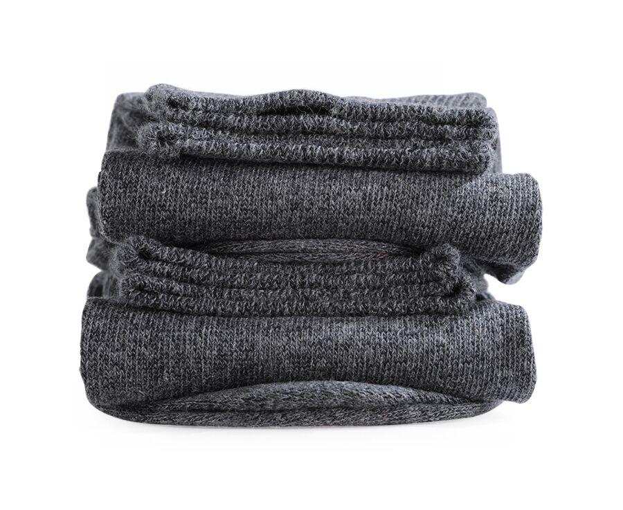 Chaussettes homme épaisses coton Gris Anthracite