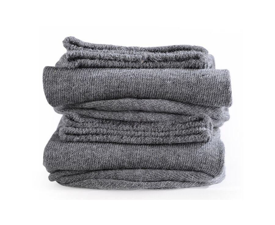 Mercerised Cotton Socks Without Ribbing Grey Melange