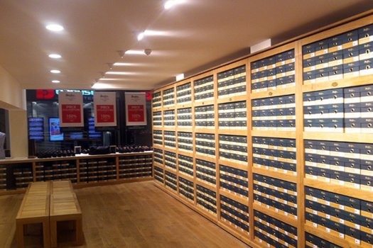 Boutique Bruxelles étagères