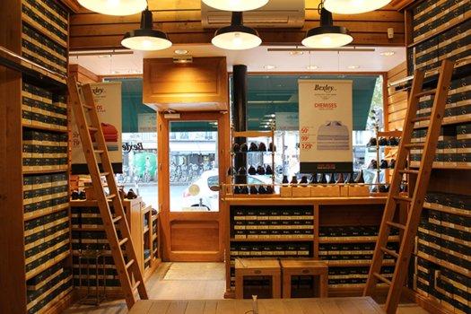 Boutique Bexley Paris Raspail intérieur
