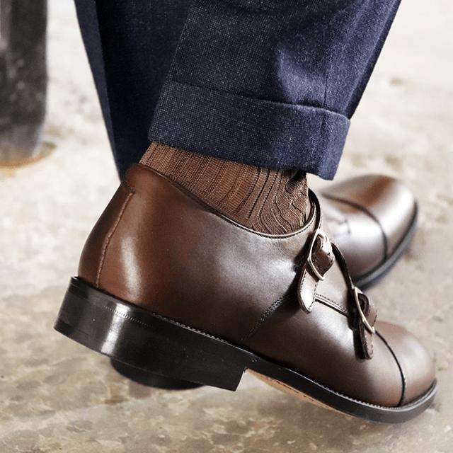 Chaussures à boucles homme