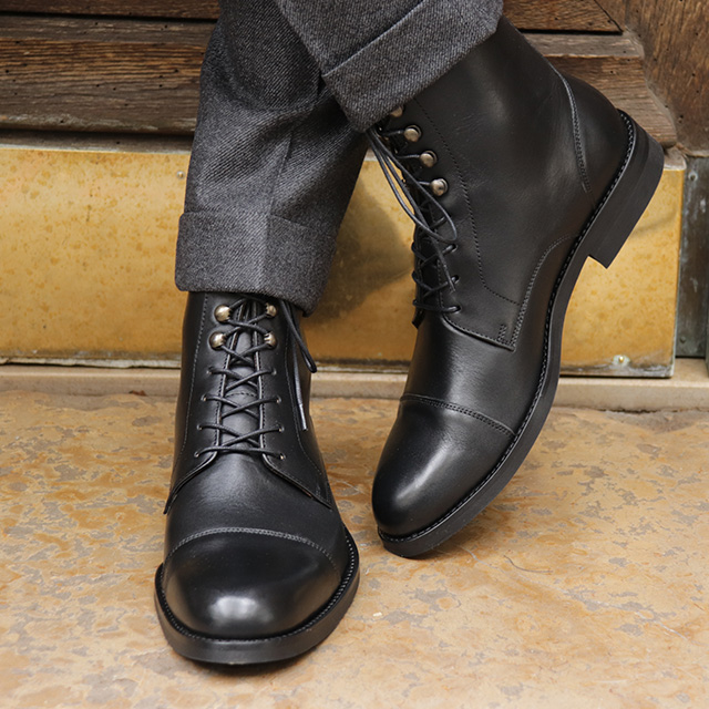 Boots cuir homme