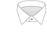 Straight collar shirt Bexley