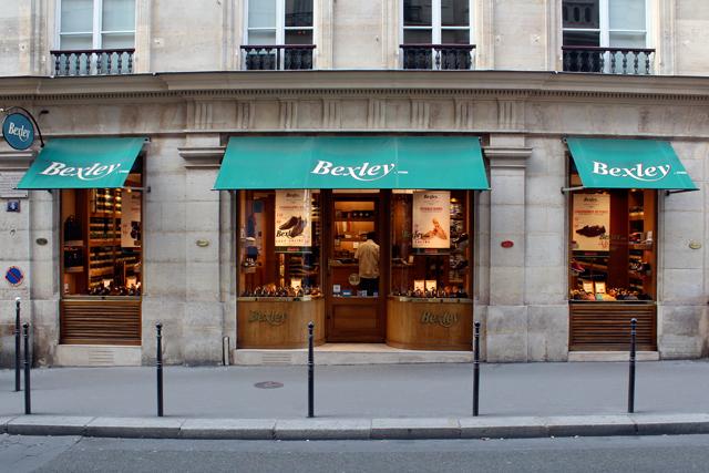Boutique Bexley Paris Chauveau vitrine