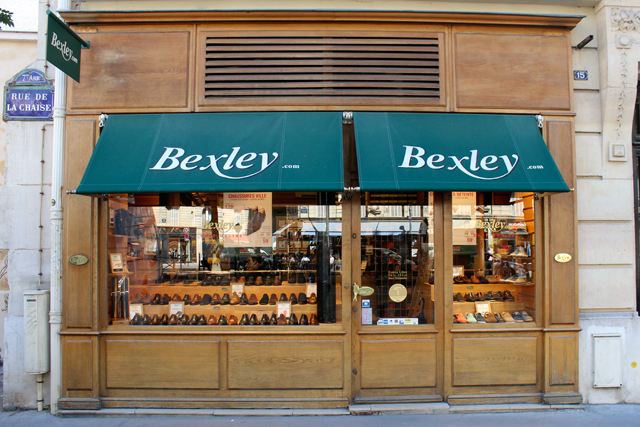 Boutique Bexley Paris Raspail vitrine